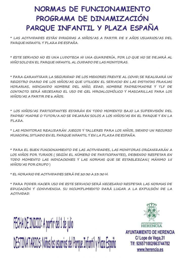 Programa de dinamización infantil en el parque infantil y la plaza de España 6