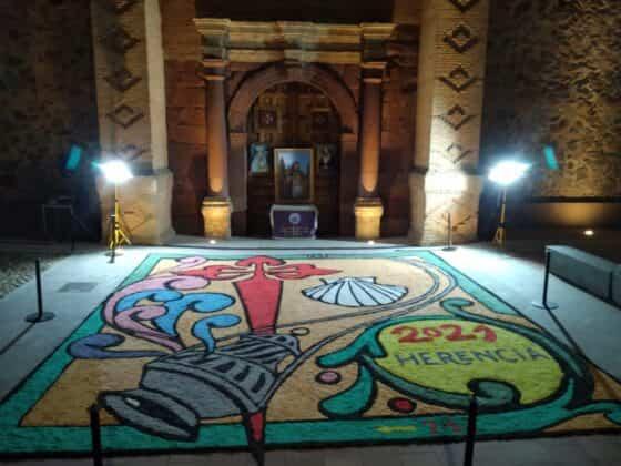 Galería de imágenes de la alfombra Xacobea realizada por la hermandad de Jesús de Medinaceli 8