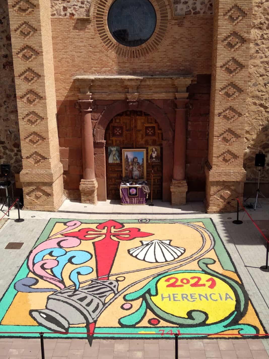 Galería de imágenes de la alfombra Xacobea realizada por la hermandad de Jesús de Medinaceli 11