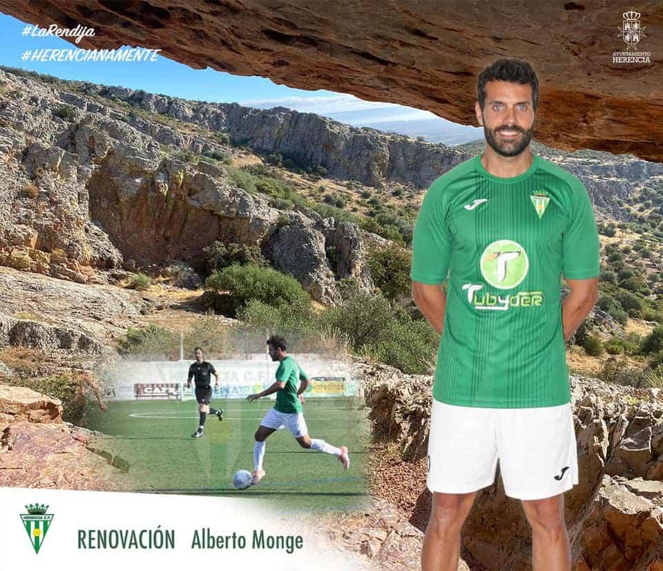 Alberto Monge renueva una temporada más por el Herencia C.F. 1