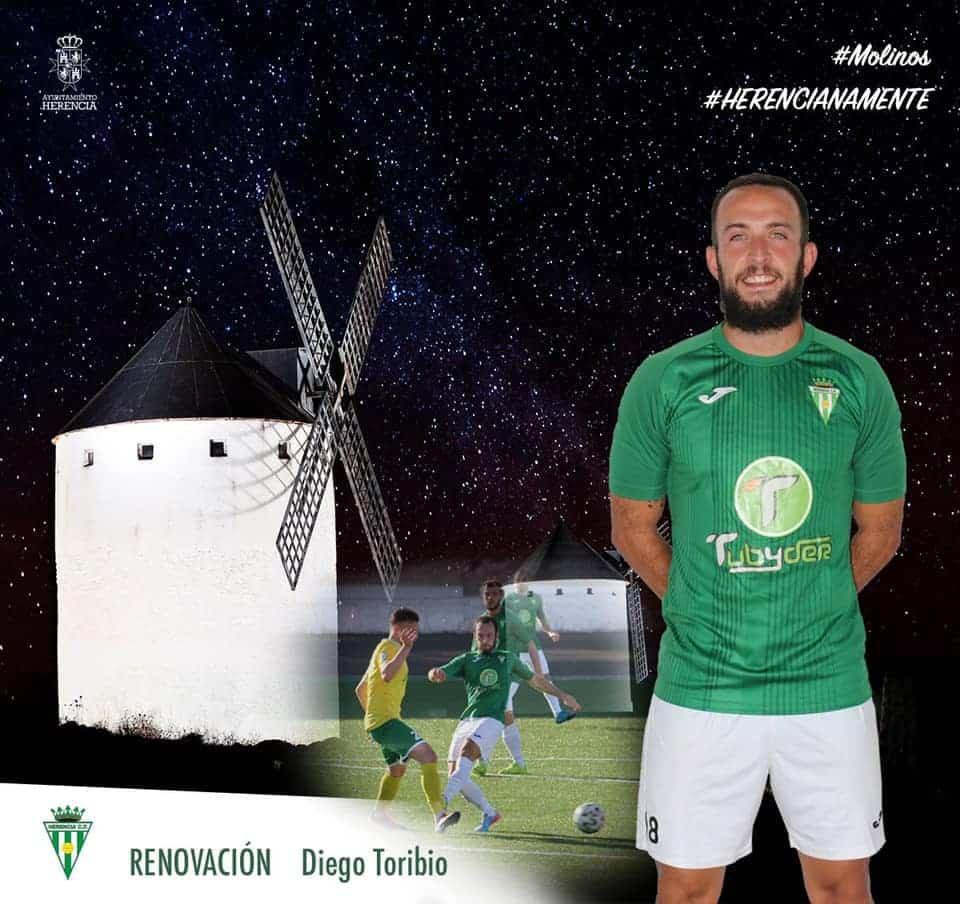 Diego Toribio renueva un año más por el Herencia C.F. 1
