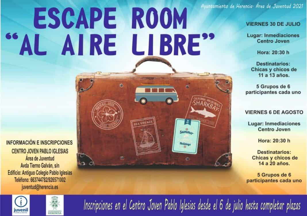 """Herencia celebrará su primero """"escape room"""" para los jóvenes 1"""