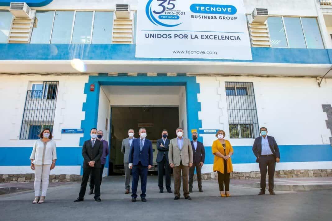 García-Page visitó la empresa herenciana Tecnove 1