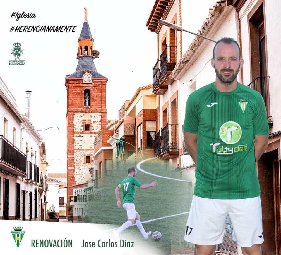 """José Carlos Díaz """"Choche"""" renueva por un año más por el Herencia C.F. 1"""
