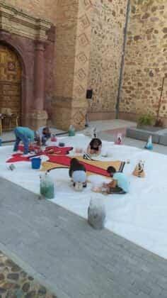 Galería de imágenes de la alfombra Xacobea realizada por la hermandad de Jesús de Medinaceli 6