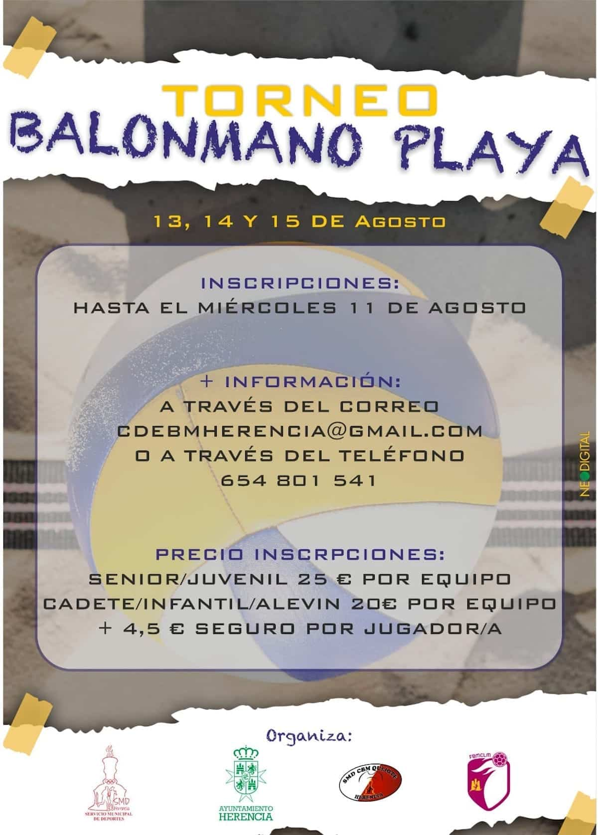 Torneo de Balonmano Playa en Herencia entre el 13 y 15 de agosto 3