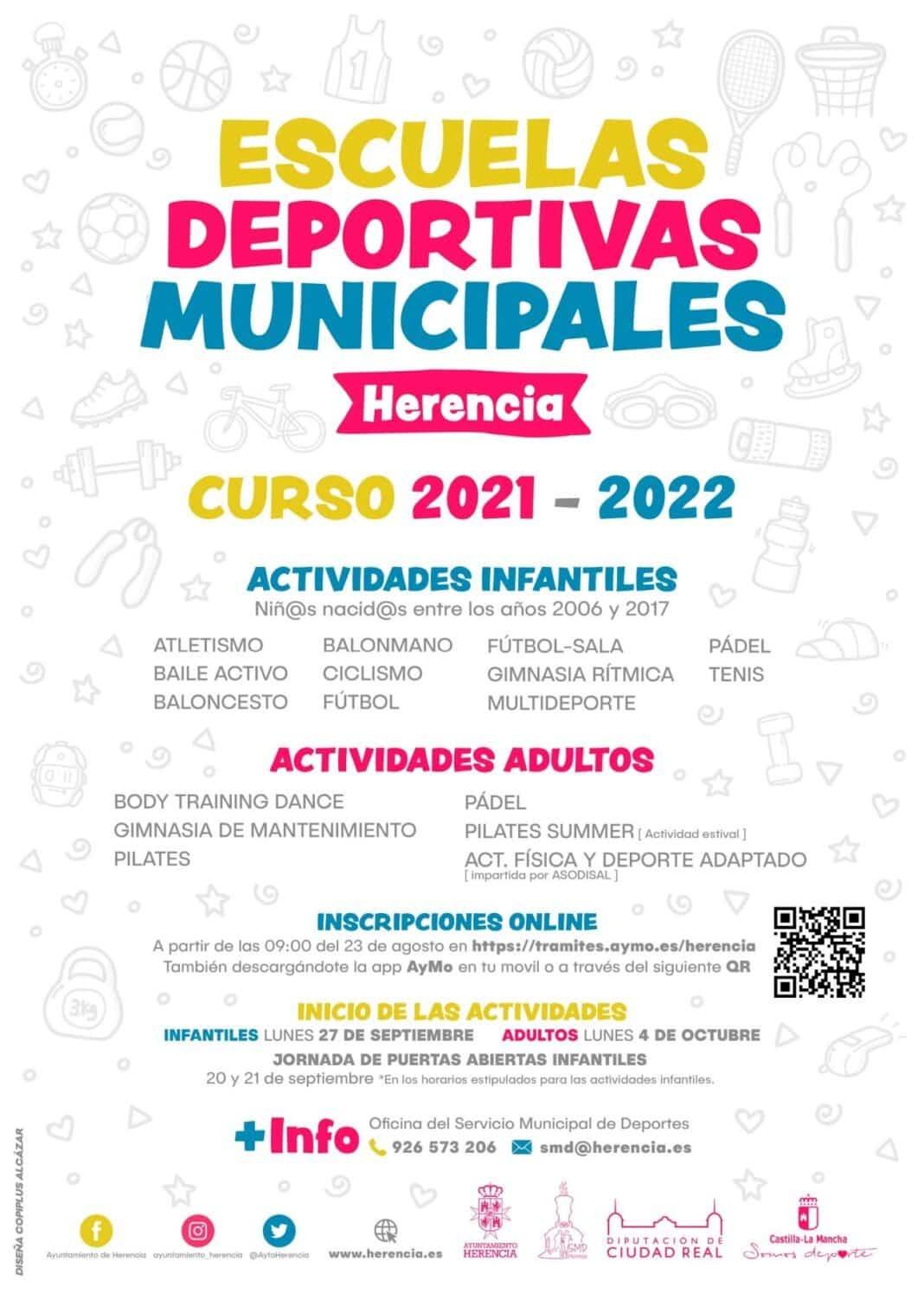 Las inscripciones para las escuelas deportivas 2021-2022 comenzarán el 23 de agosto 7