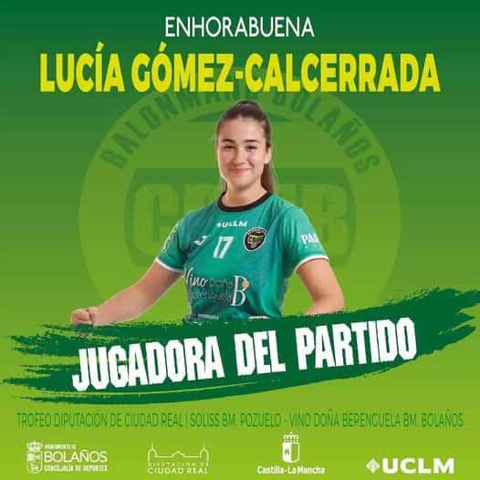 Lucía Gómez-Calcerrada mejor jugadora del Trofeo Diputación de Balonmano Categoría Senior Femenino 2021 1