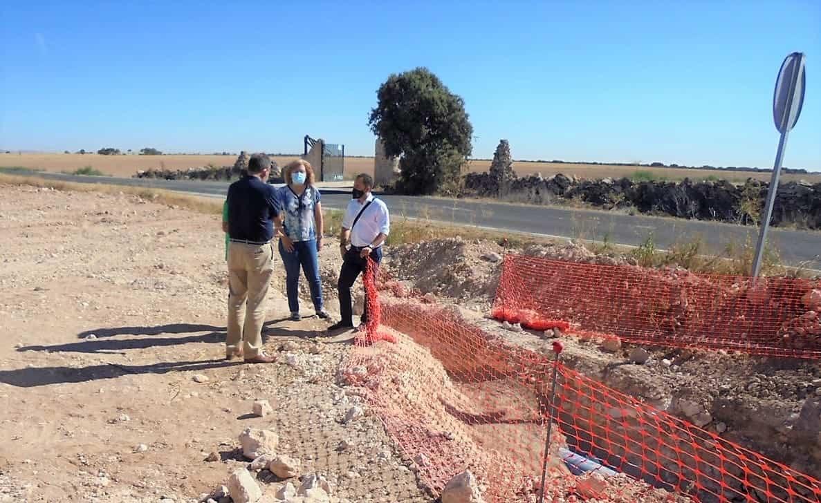 Renovado más de 500 metros de la conducción que abastece de agua a Herencia desde el pozo Palancas 3