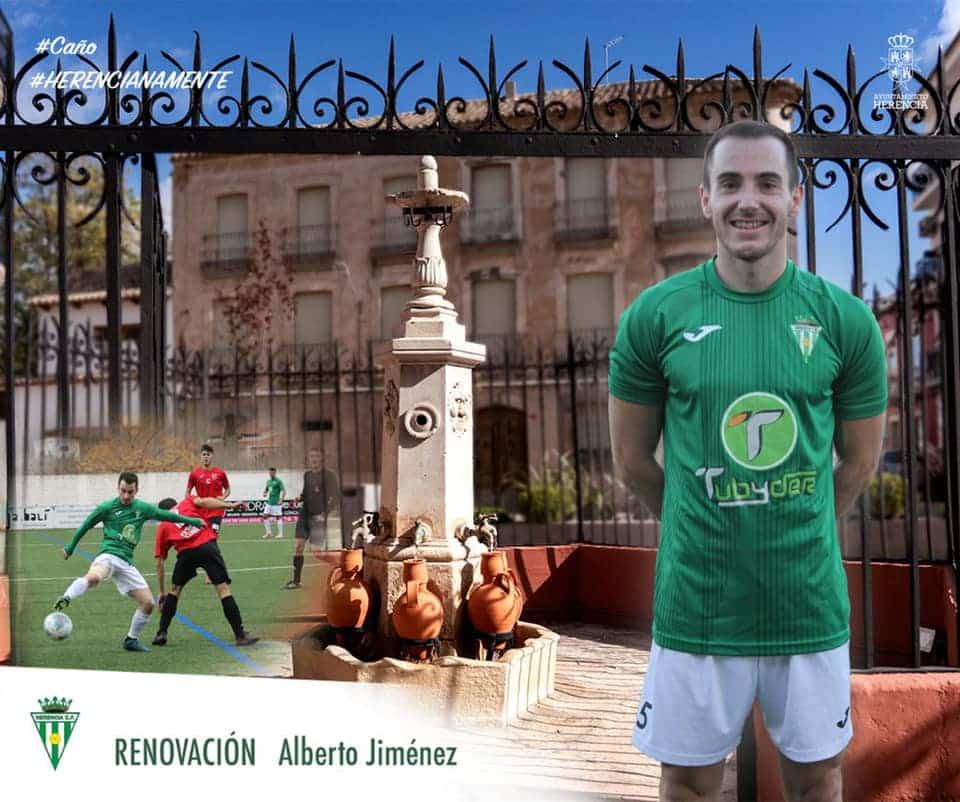 """Alberto Jiménez """"Tito"""" renueva por un año más por el Herencia C.F. 1"""