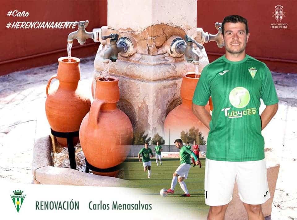 Carlos Menasalvas renueva un año más por el Herencia C.F. 1