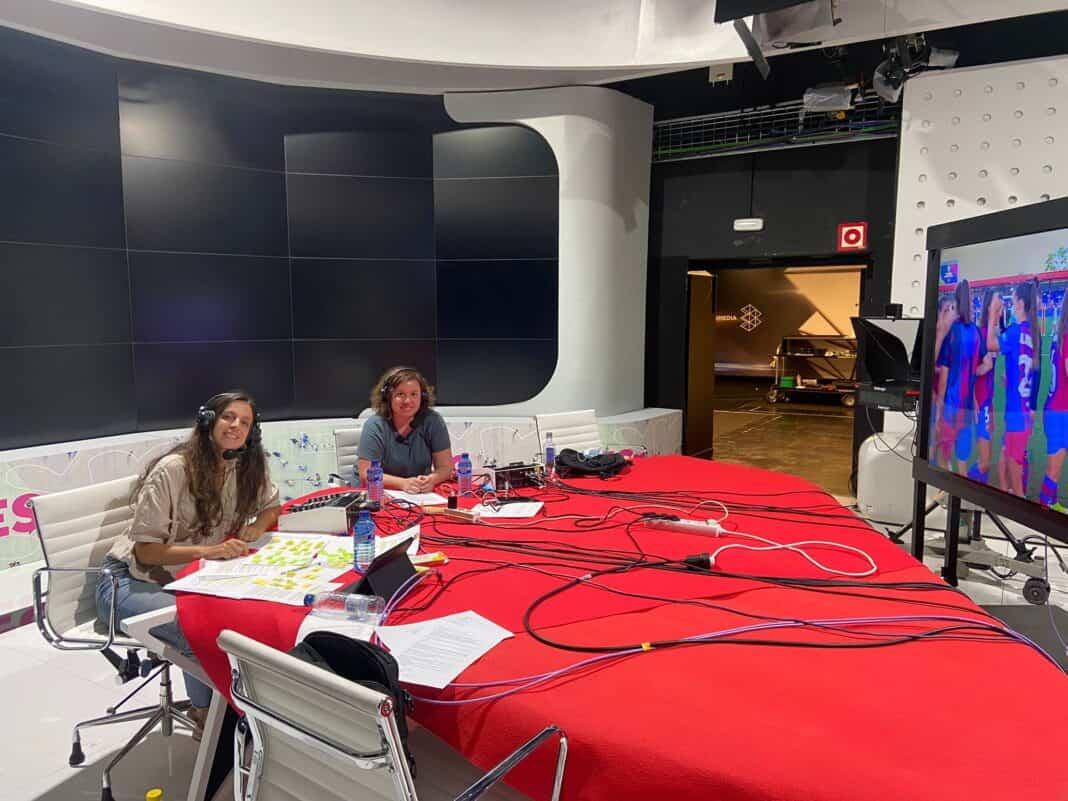 La herenciana Mamen Hidalgo comentarista en la emisión del FC Barcelona-Juventus Femenino en La Sexta 1