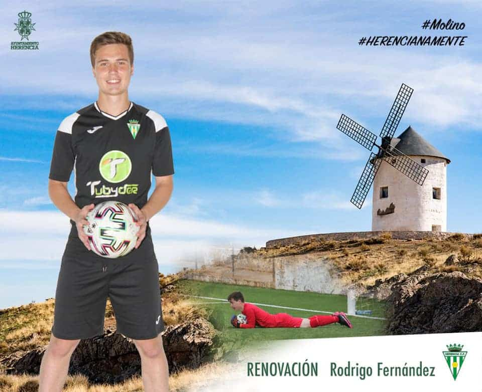 Rodri Fernández renueva un año más su compromiso en el Herencia C.F. 1
