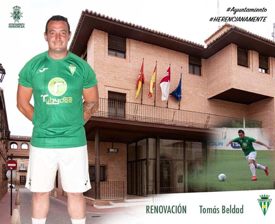 Tomás Beldad renueva por un año más por el Herencia C.F. 1