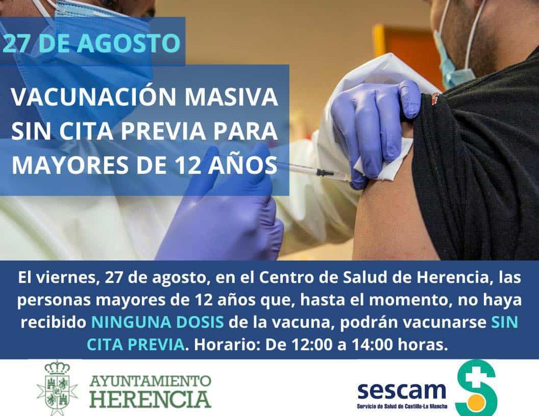 Nueva vacunación masiva sin cita precia en el Centro de Salud de Herencia 3