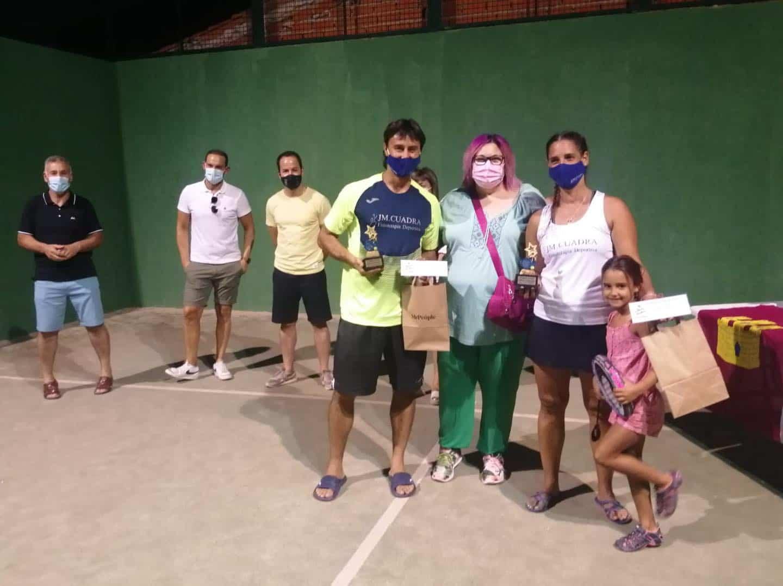 Entrega de trofeos del VI Torneo de Pádel de Verano en Herencia 21