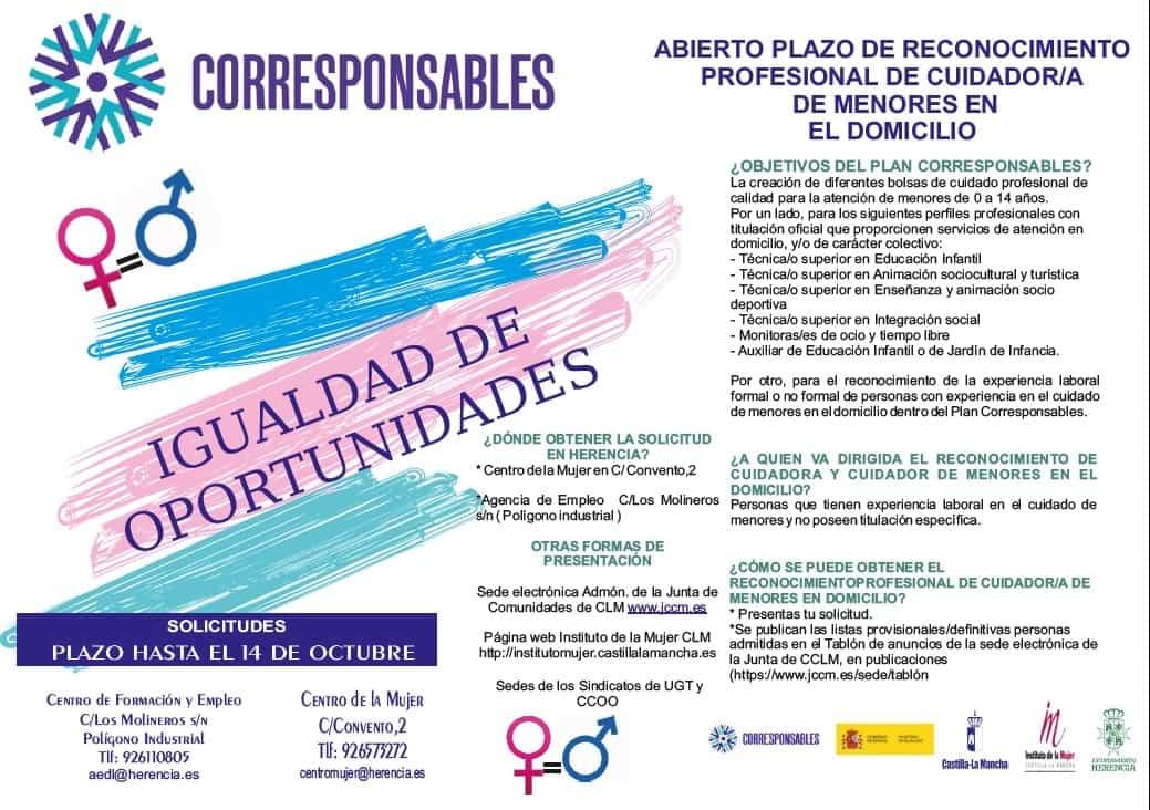 Herencia pone en marcha el Plan Corresponsables para facilitar la conciliación laboral y personal 6