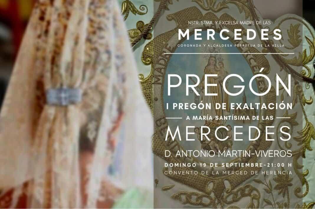 Primer pregón de exaltación a la Virgen de las Mercedes 1