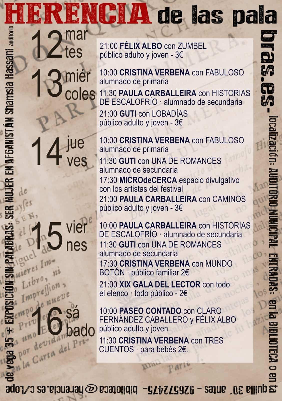 """Presentado el II Festival de Narración """"Herencia de las Palabras"""" para todos los públicos 3"""