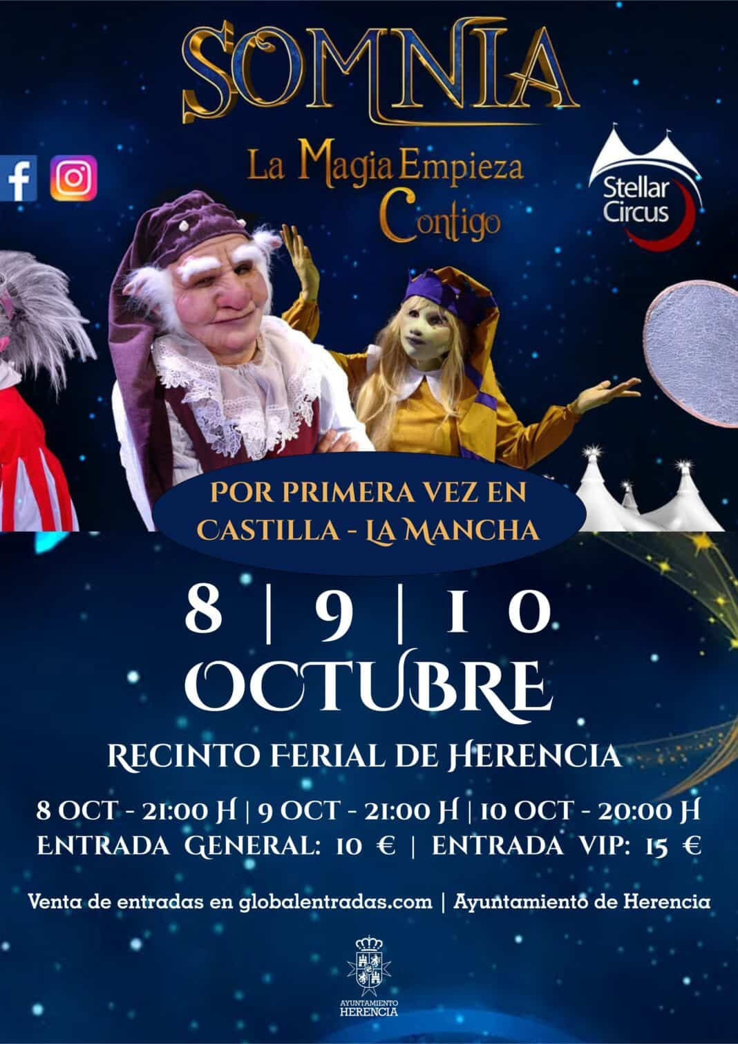 Somnia, el mayor espectáculo de entretenimiento, música, danza y magia jamás visto en España llega a Herencia 1