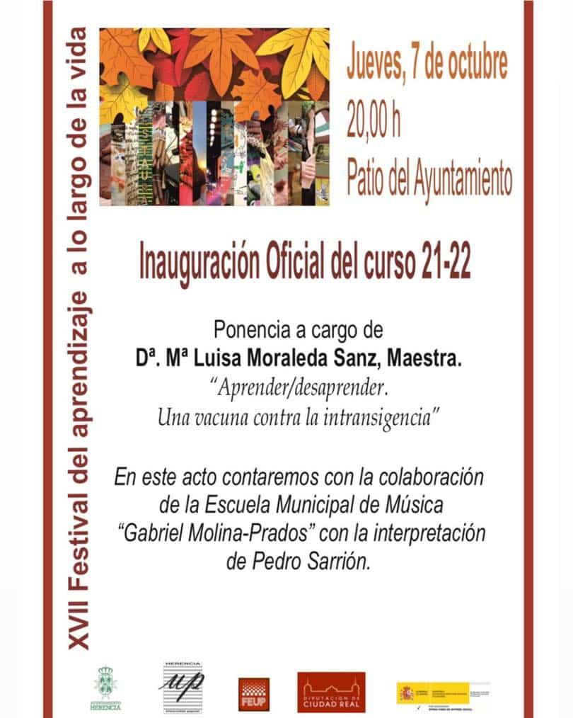 """El 7 octubre se celebrará la XVII edición del """"Festival del Aprendizaje a lo Largo de la Vida"""" 3"""