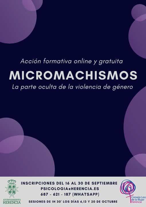Abiertas las inscripciones para el taller de igualdad sobre Micromachismos 1