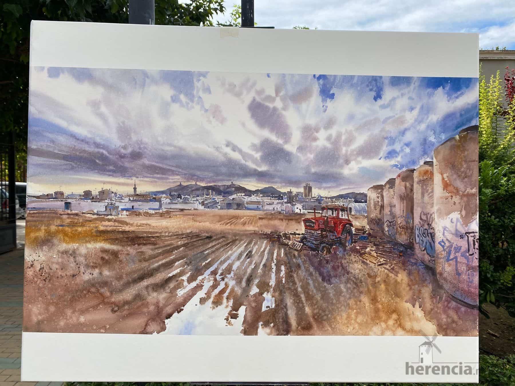 """Galería de cuadros del XIV Certamen Nacional de Pintura Rápida """"Villa de Herencia"""" 53"""