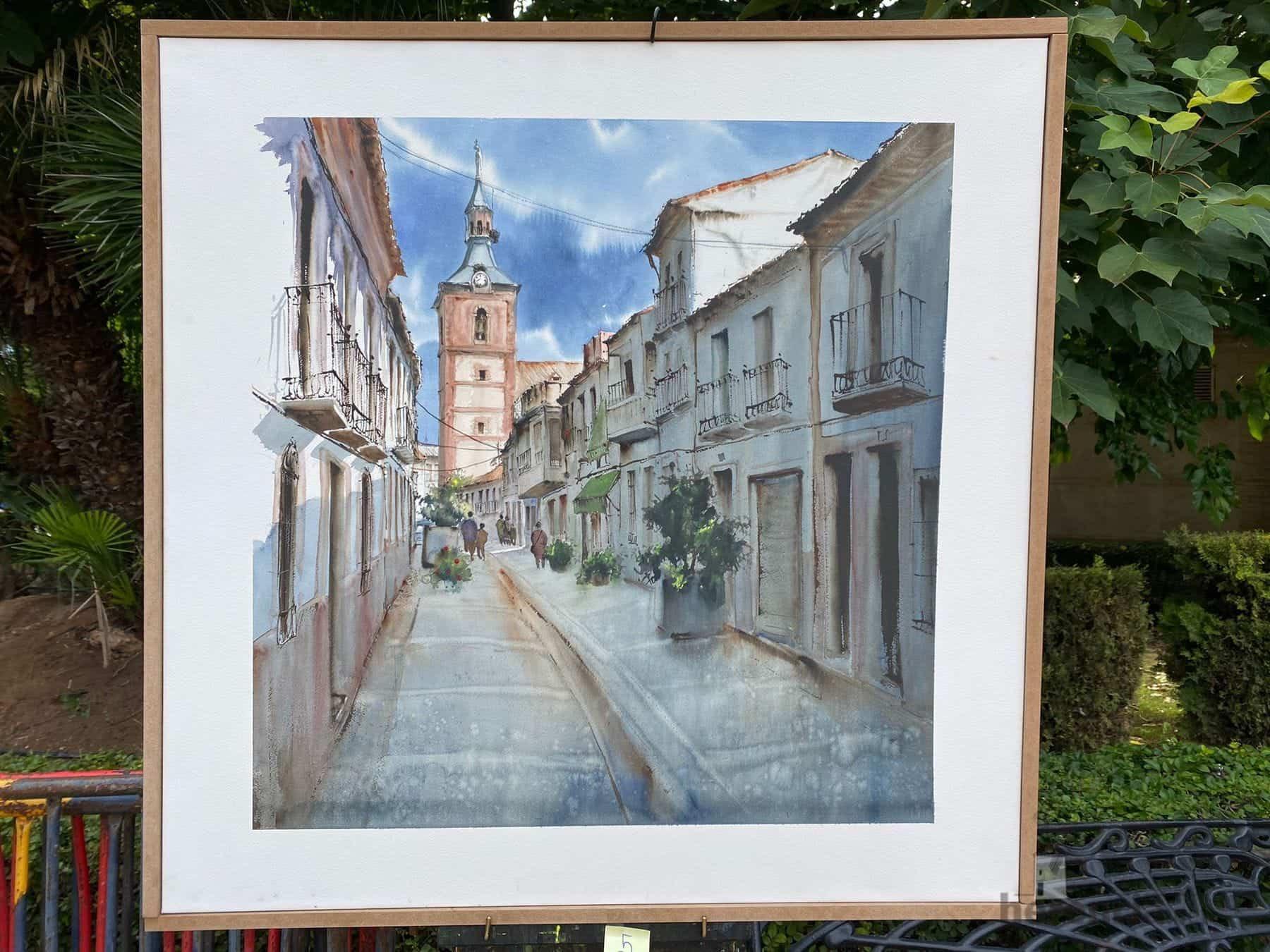 """Galería de cuadros del XIV Certamen Nacional de Pintura Rápida """"Villa de Herencia"""" 59"""