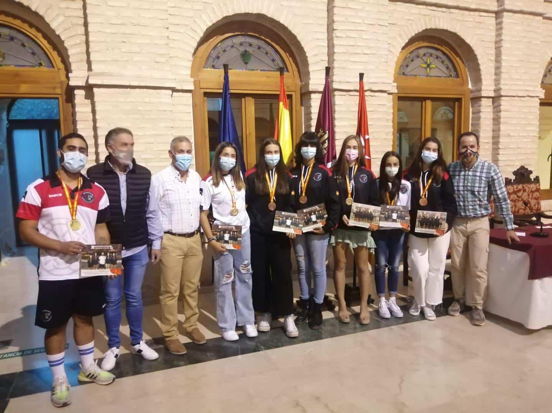 Recepción a los deportistas con medalla en el Campeonato de España de Balonmano Playa 29